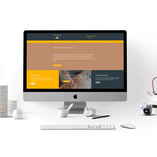 Website Therapiezentrum Kattnig 2020 - Agentur Christian Reiter - Grafik und Webdesign