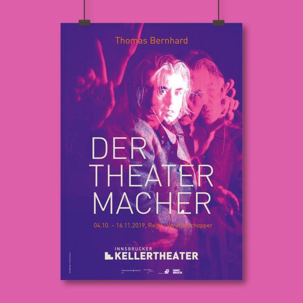 Der Theatermacher - Kellertheater Innsbruck - Grafik by Agentur Christian Reiter - 2019-10-11