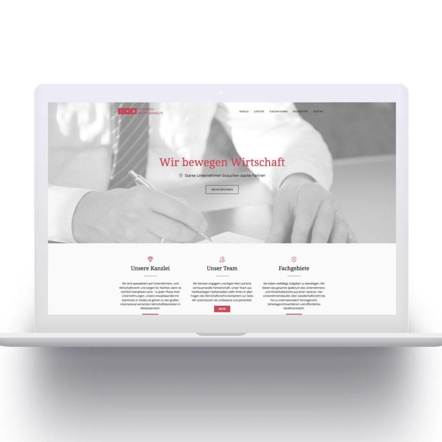 CHG Rechtsanwaelte - Website by Agentur fuer Grafik und Webdesign - Christian Reiter